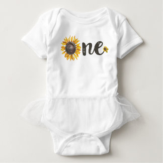 Sunflower First Birthday Outfit Baby Bodysuit