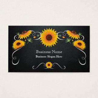 Sunflower Floral Chalkboard Vintage Business Card