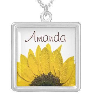 Sunflower Floral Necklace