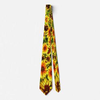 Sunflower Floral  Tie