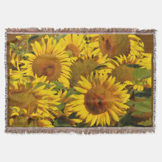Sunflower Flowers Floral Garden Throw Blanket