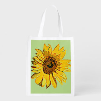 Sunflower Foldable Tote Grocery Bag