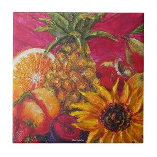 Sunflower Fruit Tile
