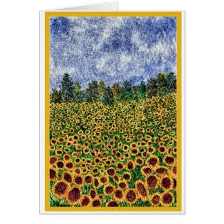 'Sunflower Galaxy' card