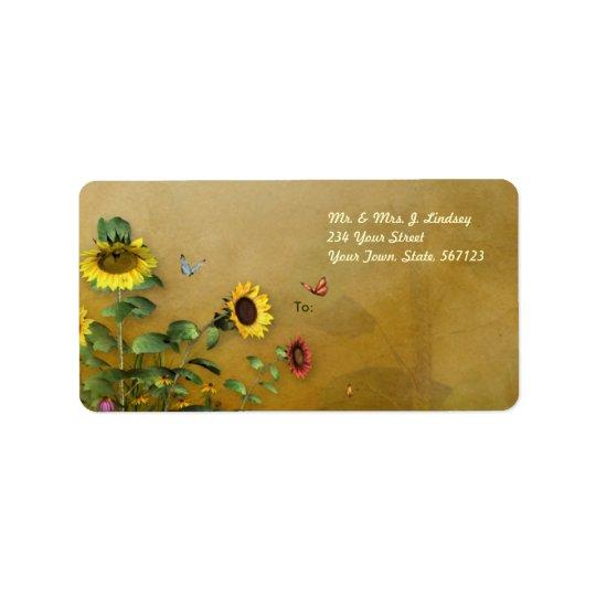 Sunflower Garden 2 Label