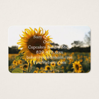 Sunflower garden.Beautiful flowers Business Card