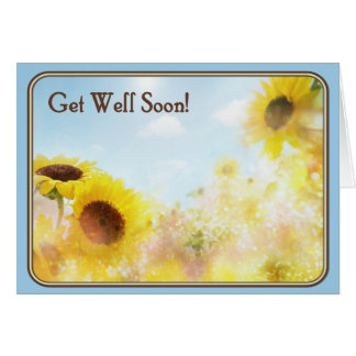 Sunflower Get Well Wishes Card