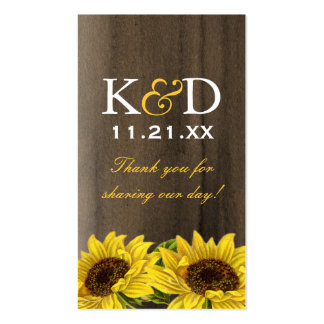 Sunflower Gift Tags (Pack of 100) Pack Of Standard Business Cards