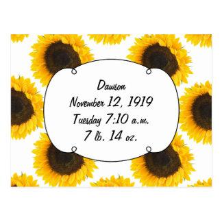 Sunflower Gifts Postcard