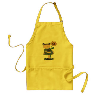 Sunflower Girl 9th Birthday Gifts Adult Apron