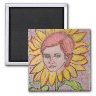 Sunflower Girl Magnet