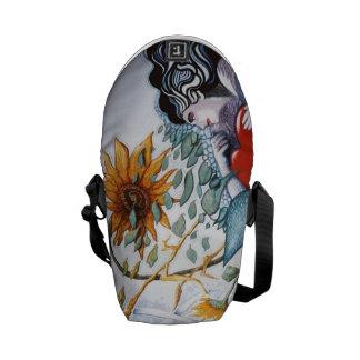 Sunflower girl messenger bags