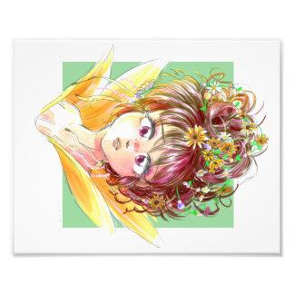 Sunflower Girl Photo Print