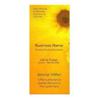 Sunflower Glow Personalised Rack Card