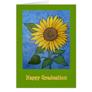 Sunflower Graduation Card
