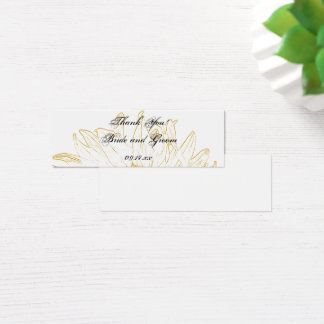 Sunflower Graphic Wedding Favor Tags Mini Business Card