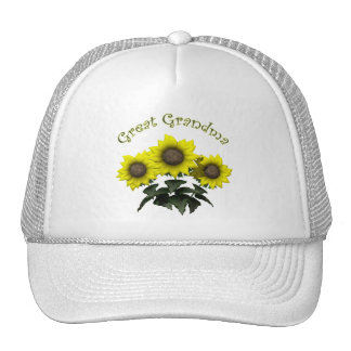 Sunflower Great Grandmother Mothers Day Gifts Cap