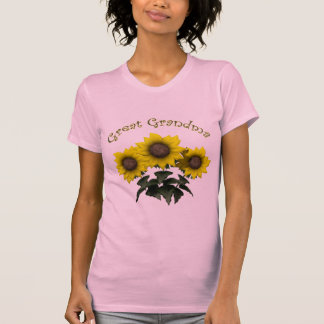 Sunflower Great Grandmother Mothers Day Gifts Tee Shirt