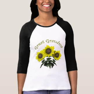Sunflower Great Grandmother Mothers Day Gifts Tee Shirts