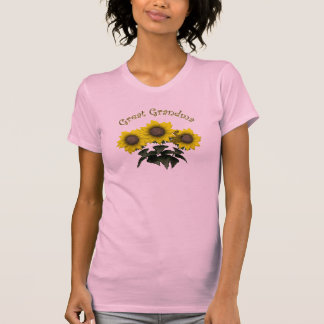 Sunflower Great Grandmother Mothers Day Gifts Tshirts