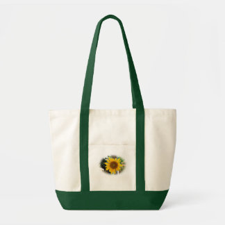 Sunflower & Green Tote Bag