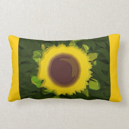 Sunflower / Green / Yellow  American MoJo Pillow