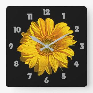 Sunflower Grey Fat Numbers Wall Clock