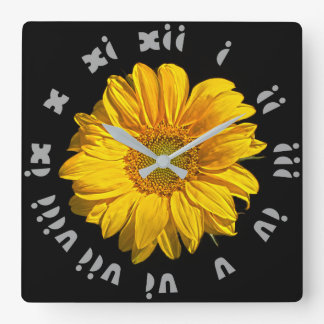 Sunflower Grey Fat Roman Numbers Wall Clock