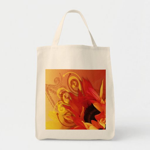 Sunflower - Grocery Tote Bags