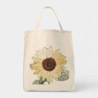 Sunflower Grocery tote Grocery Tote Bag