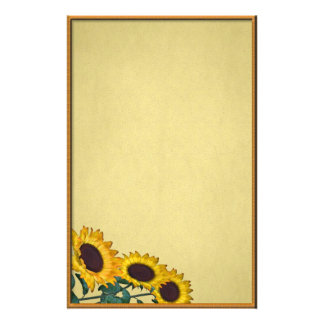 Sunflower Grunge Stationery