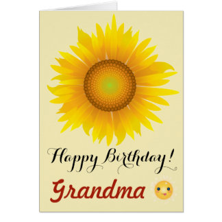 Sunflower - Happy Birthday Grandma! Card