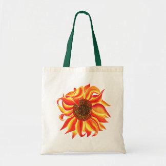 Sunflower head design tote bag
