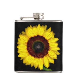 Sunflower Hip Flask