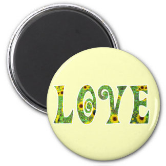 Sunflower Hippy Love Magnet