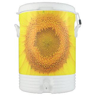 Sunflower Igloo Beverage Cooler, Ten Gallon Drinks Cooler