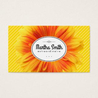 Sunflower II | Yellow Stripes Business Card