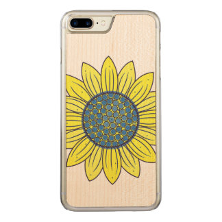 Sunflower Illustration Carved iPhone 7 Plus Case