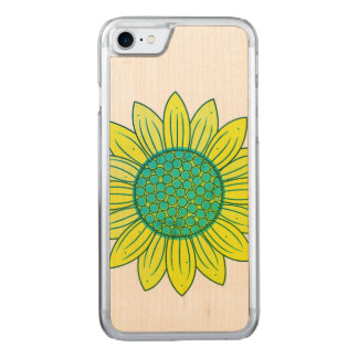 Sunflower Illustration Carved iPhone 8/7 Case