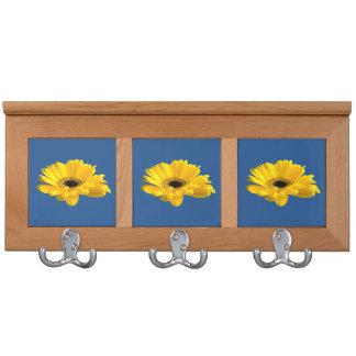 Sunflower In Blue Coat Rack