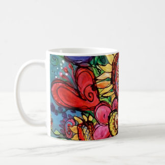 Sunflower in Pink Vase Coffee Mug