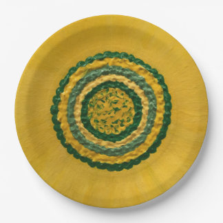 """Sunflower in Spring 9"""" Paper Plate"""