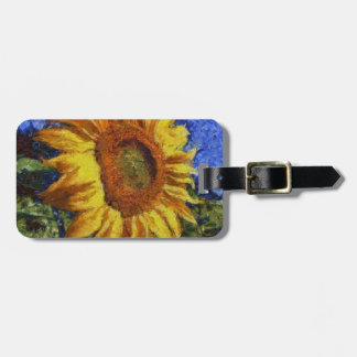Sunflower In Van Gogh Style Bag Tag