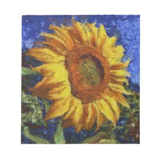 Sunflower In Van Gogh Style Notepad