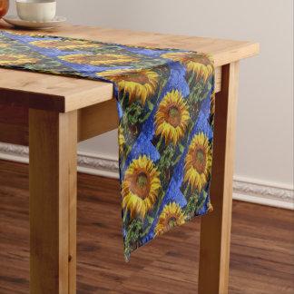 Sunflower In Van Gogh Style Short Table Runner