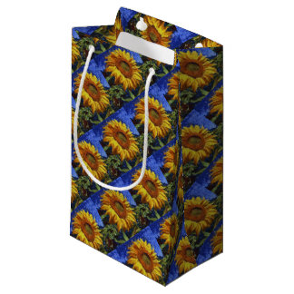 Sunflower In Van Gogh Style Small Gift Bag