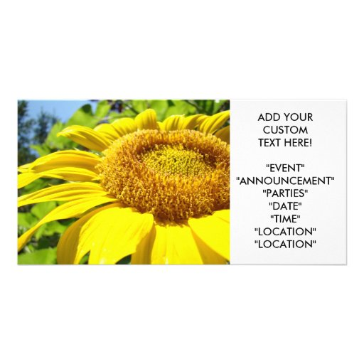 SUNFLOWER Invitation Cards Party Invitations Event Customized Photo Card