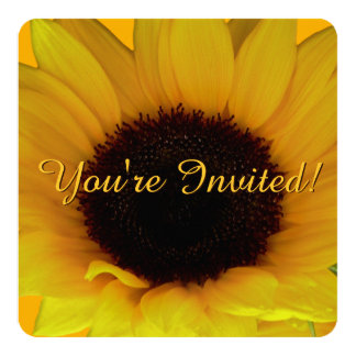 Sunflower Invitation Personalize Flower RSVP Card