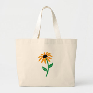 Sunflower isolated canvas bags