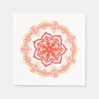 Sunflower kaleidoscope disposable napkins